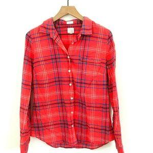 J.Crew Plaid Button Up Shirt Medium